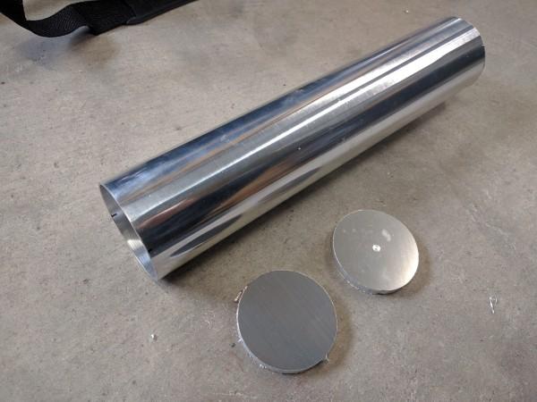 アルミパイプと蓋となるアルミ板