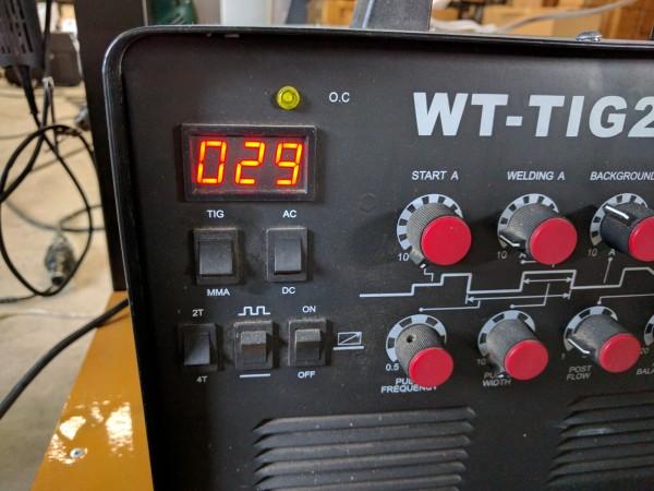 アルミ1mm板の突き合わせ溶接参考電流値