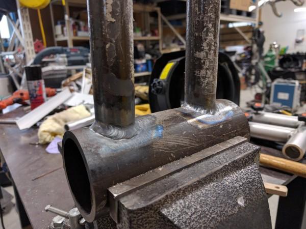 鉄パイプのTIG溶接