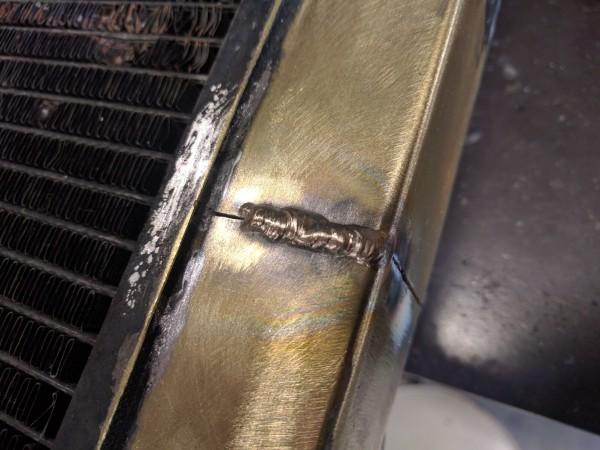 銅のTIG溶接