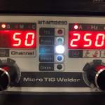 マイクロTIG溶接機の設定