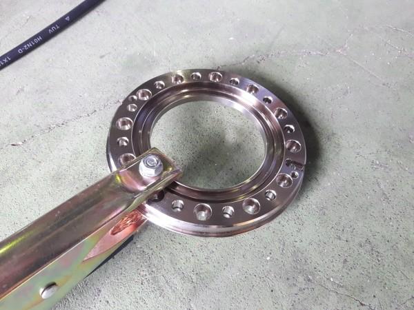 鉄のフランジ(メッキ加工)のプラズマ切断