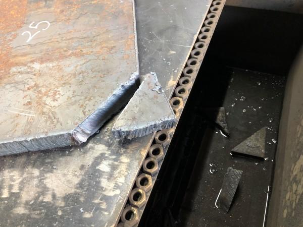 厚板25mmをプラズマ切断